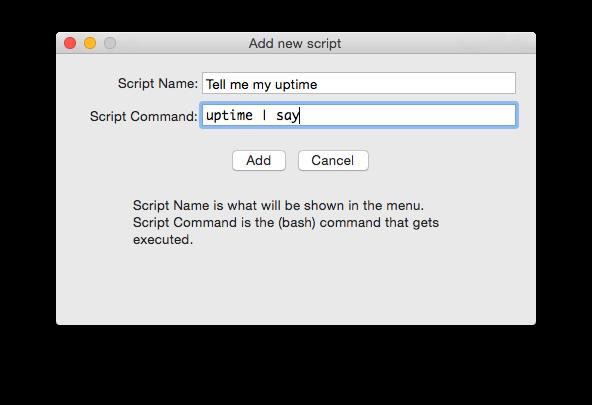Add New Script dialog
