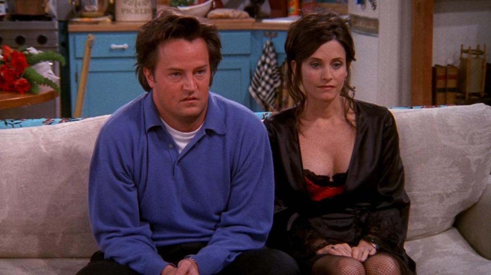 chandler and monica looking funny