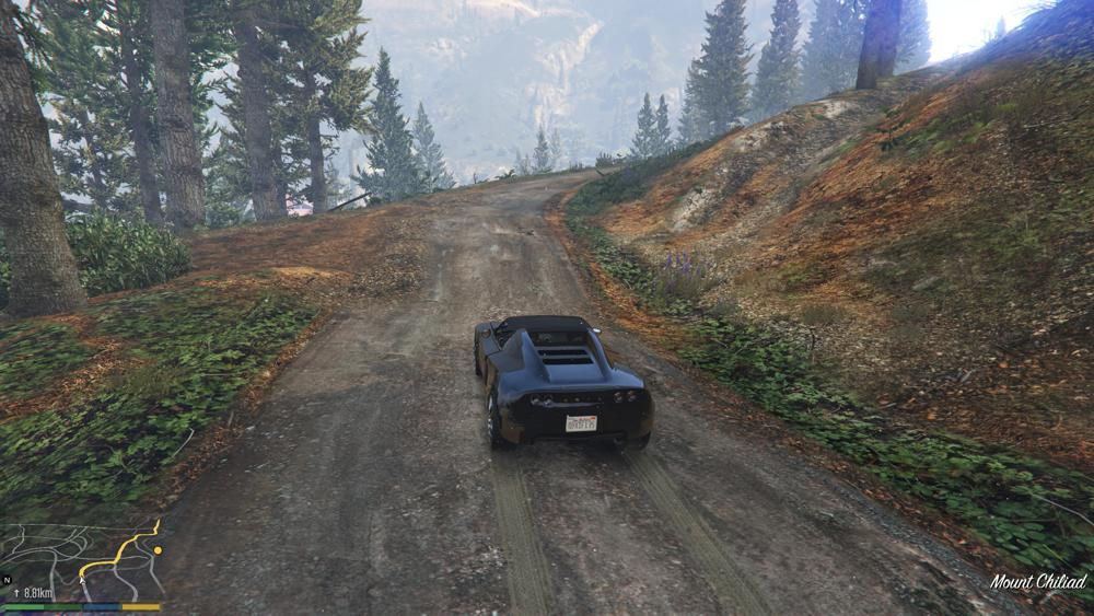 Franklin driving to the sawmill